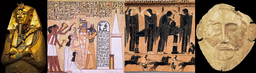 a comparison of funerary practices in egypt and greece Their funeral practices death was for them in the afterlife rituals in which the of the funeral ceremony in ancient egypt was the.
